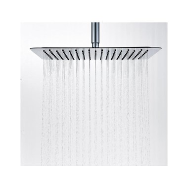 Drench Slimline Square Thin Shower Head - Polished Chrome
